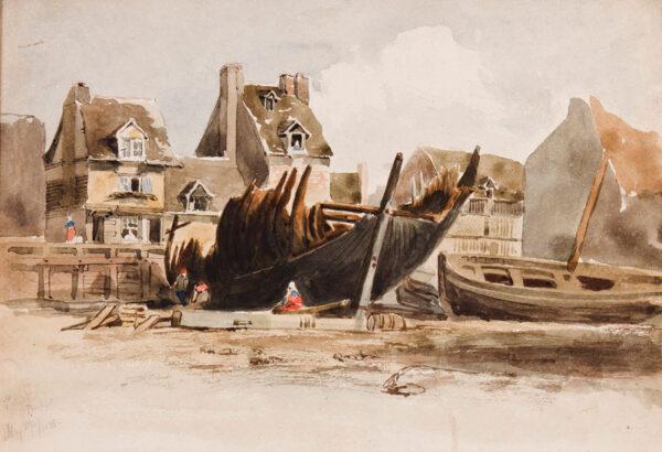 WOLEDGE Frederick William (fl.1830-1895) - Dieppe: 'Le Pollet'.