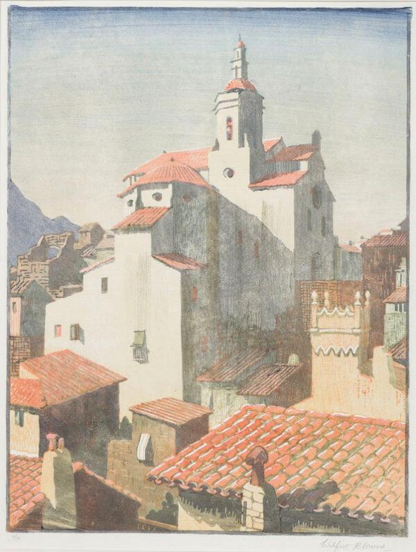 WOOD Wilfrid Rene (1888-1976) - Spanish church.