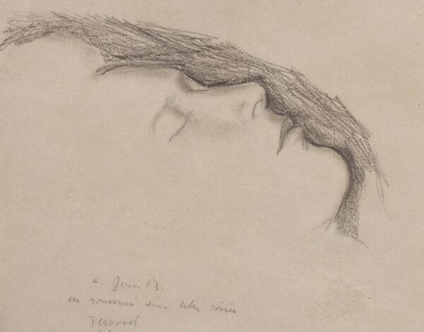 WOOD Christopher (1901-1930) - L'Enfant Terrible: 'Jean Bourgoint asleep' Pencil.