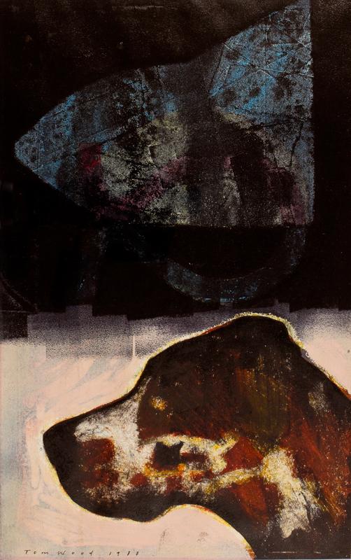 WOOD Tom (b.1955) - Dog and Form.
