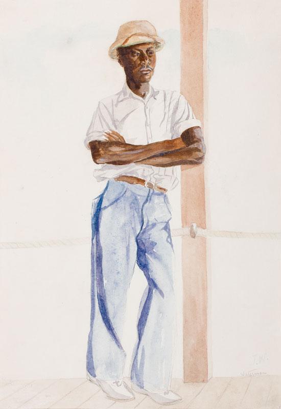 WOOD John Harold (fl.1950s) - 'Waterman', Jamaica.