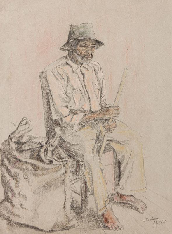 WOOD John Harold (fl.1950s) - 'The Coalman', Jamaica.