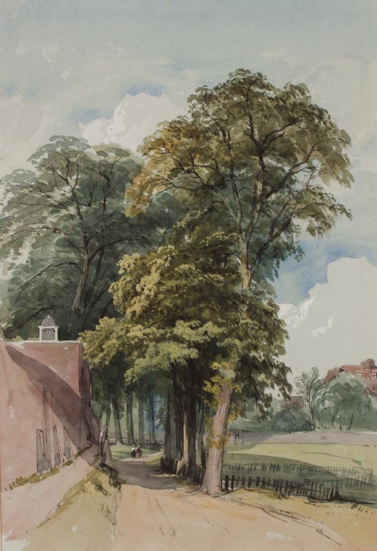 WOOD Lewis John (1813-1901) - East Heath Lane, Hampstead.