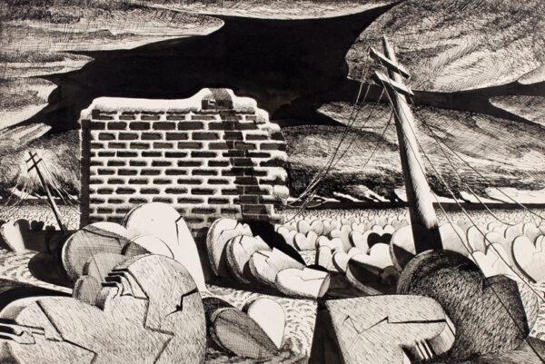 WRAGG Arthur (1903-1976) - Enigmatic landscape.