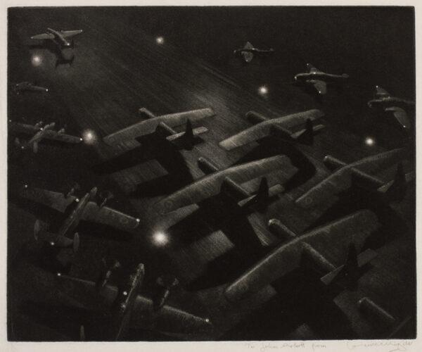 WRIGHT Lawrence (1906-c.1985) - Runway at night.