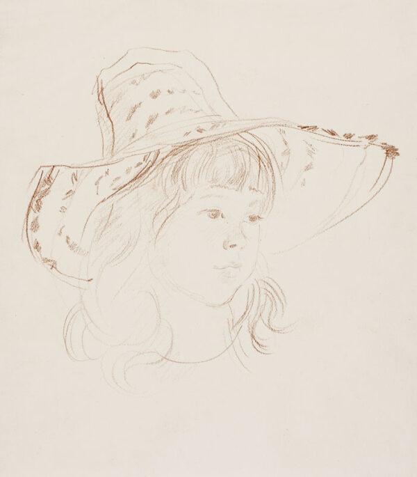 WYETH Paul (1920-1983) - Head of a girl.