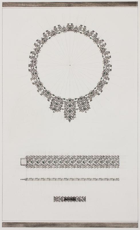 YEHIA (Mahomed) Bakri (Ahmed) (RCA grad.1954) - Design: necklace and bracelet.